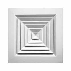 Aluminium White Square Diffuser