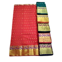 Golden Zari Border Saree
