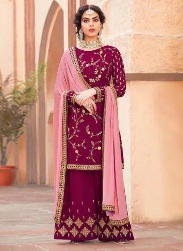 cf42496be3 Magenta Eid Special Sharara Salwar Suits, Rs 2355 /piece, Kesari ...