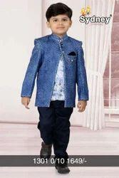 Party Wear Full Sleeve Kids Stylish Blazer Suit