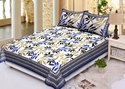Cotton Floral Printed Double Bed Sheet