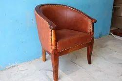 W23xd21xh32 Inch 27.5 Kg Club Arm Chair VIintage Brown Leather