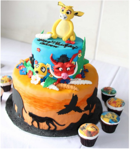 Peachy Lion King Birthday Party Theme Cake Sweet Cherry Funny Birthday Cards Online Fluifree Goldxyz