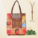 Zipper Fashion Tote Bag