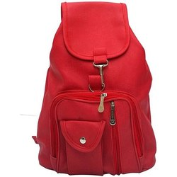 Polyester Plain Girls College Shoulder Backpack
