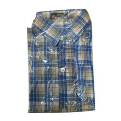 Cotton Men Mens Casual Checked Shirt