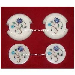 Decorative Stone Inlay Tea Coaster Sets