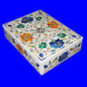 Marble Inlay Rectangular Jewellery Box
