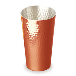 Hammered Copper Tumbler Shaker 16 Oz  NJO-6618