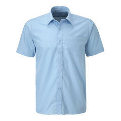 Sky Blue Cotton School Uniform Shirt