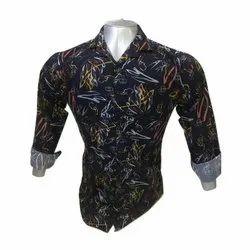Mens Blue Full Sleeve Shirt