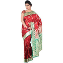 Traditional Indian Red Wedding Saree