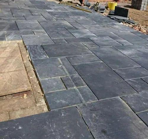 Black Stone Flooring Tiles Size, Black Stone Tile Flooring
