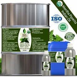 Organic Mentha Piperita India Oil