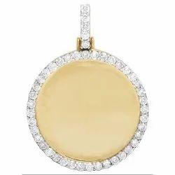14K Gold Men's Diamond Pendant