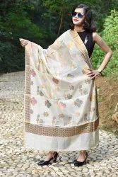 Designer Banarasi Copper Zari Dupatta