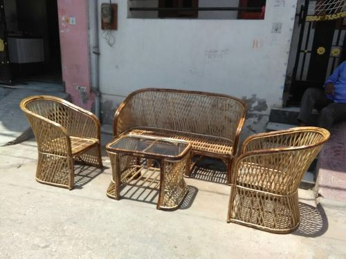 Wooden Bamboo Cane Furniture Rs 21000 Set Total Furnishing Id