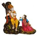 Ceramic Radha Krishna Marble Dust Idol