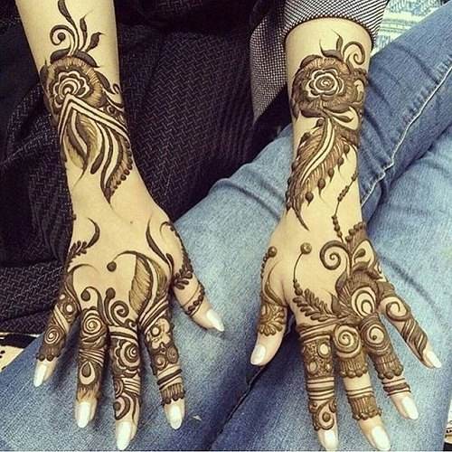 Front and Back Hand Arabic Mehandi Design Service in Sector