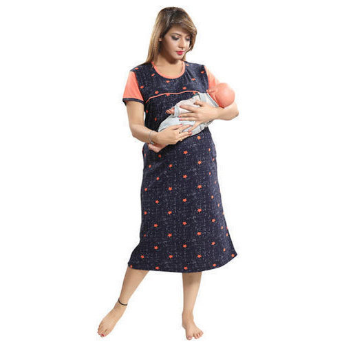 L And XL Printed Short Maternity Nightgown 99f789414