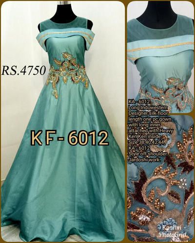 3e4bbeaa0d4 Party Wear Indo-Western Bedazzle Women  s Gown