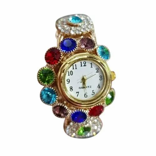 Party Wear Round Ladies Designer Bracelet Watch