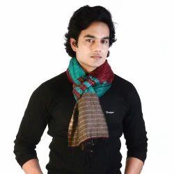 Multicolor Men Reversible Silk Stole 180
