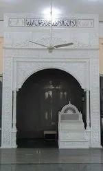 White Qibla mimber