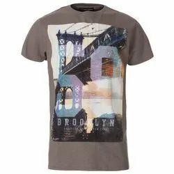 Round XXL Men's Printed T Shirt