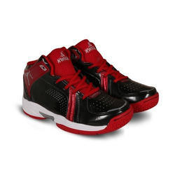 PU Red And Black Mens Basketball Shoes