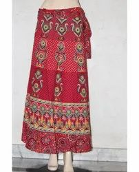 Jaipuri Printed Cotton Rapron Skirt