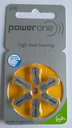 P10 Powerone Hearing Aid Battery