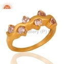 Amethyst Gemstone Gold Plated Ring Jewelry