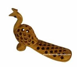 Wooden Jali Peacock Statues