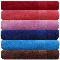 Plain Cotton Bath Towel, Size: 27x54 Inch