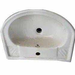 Star White Wall Mounted Ceramic Wash Basin For Bathroom