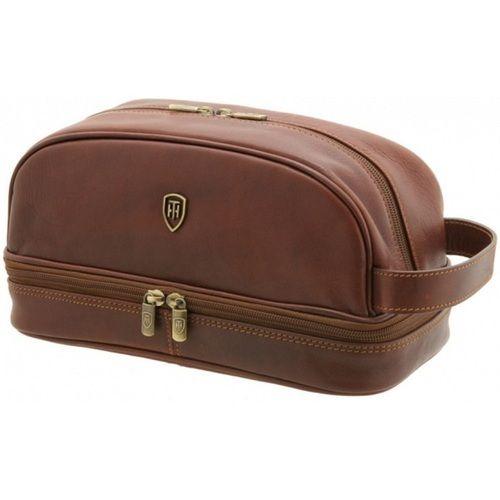 Brown Leather Cash Bag