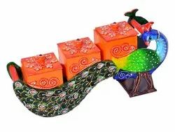 Peacock Shape Handmade Dryfruit Box