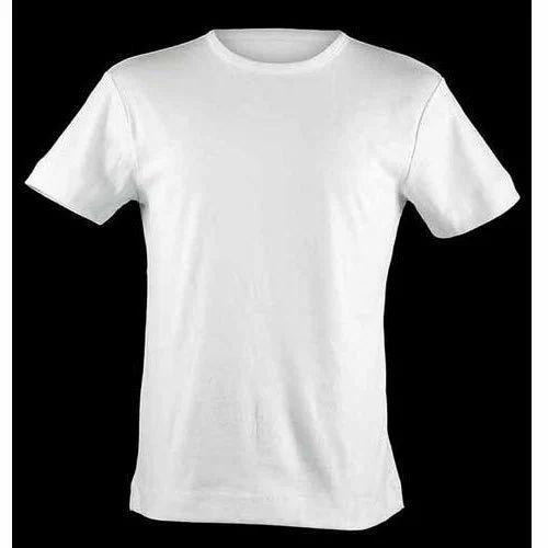 Round Half Sleeve Plain Cotton T-Shirt 7cc654d61ba
