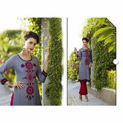 Designer Embroidered Kurti