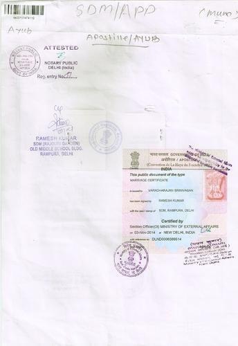 urgent marriage/ birth/ degree certificate apostille service in