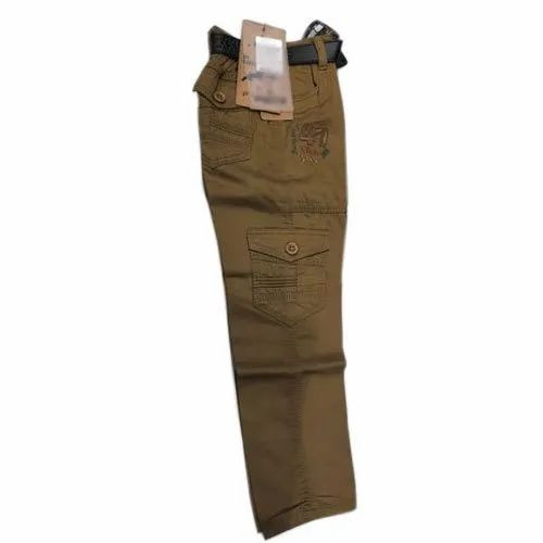Casual Wear Boys Cotton Cargo Pant