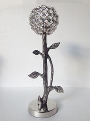 Tree Shape Aluminium Crystal Candle Holder