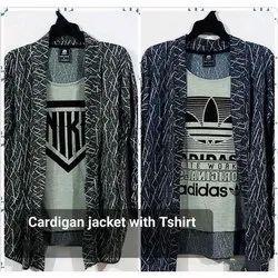 Cardigan Jacket With T Shirt