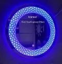 LED Mirror Yellow Blue Deamer Lights With Sensor Beautiful Modern Designed