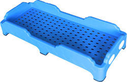Plastic Blue Rectangular Stackable Bed for Day Boarding