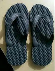 Hawaii Black Mens Health Slippers, Size: 2