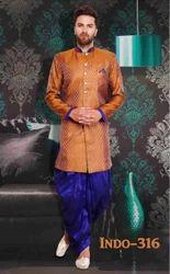 Mens Indo Western Jacket Dhoti Patiala