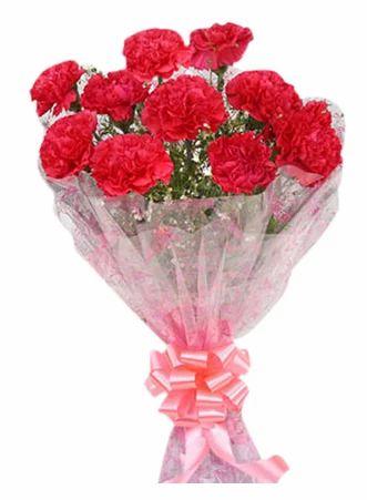 floweringo 12 red carnation bouquet at rs 650 bouquet flower