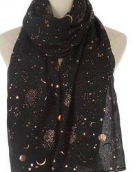 Scarf Gold Foil - Black
